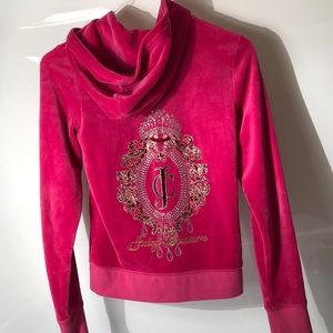 Juicy couture hot pink Valore sweatshirt size M